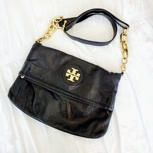 Tory Burch Leather Chain Strap Messenger Bag